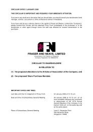 Circular to Shareholders (pdf file) - Fraser and Neave Limited