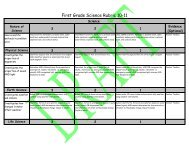 First Grade Science Rubric 10-11