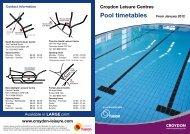 Swimming Timetable - Fusion Lifestyle