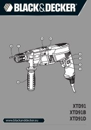 XTD91 XTD91B XTD91D - Service - Black & Decker