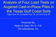 Analysis of Four Axial Compression Load Tests on High Capacity ...