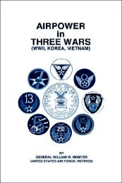 Airpower in three wars - Air University Press