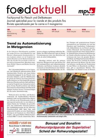 Trend zu Automatisierung in Metzgereien - Foodaktuell.ch