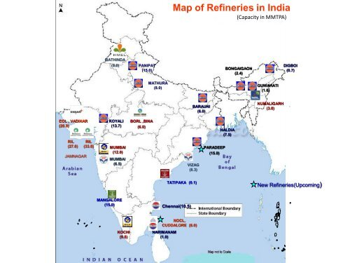 petroleum refineries in india map Map Of Refineries In India petroleum refineries in india map