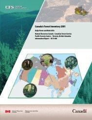 Canada's Forest Inventory 2001 - Publications du gouvernement du ...