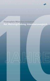 Rat, Meinungsfindung, Interessensausgleich - Finanzplatz München ...