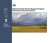 National Forest Scenic Byways Program Partnership Success Stories