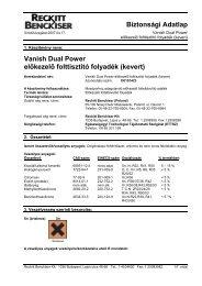 VANISH DualPower Mixed(REACH) - Galatea Kft.