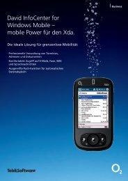 David InfoCenter for Windows Mobile – mobile Power für den Xda.