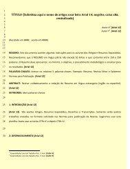 Modelo para Artigo - Faculdade Salesiana Dom Bosco