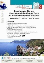 Das glauben Sie nie: Ligurien und die Cinque Terre zu ...
