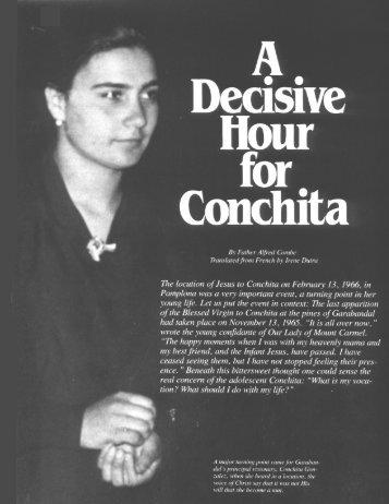 A Decisive Hour for Conchita - Garabandal
