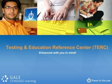 Testing & Education Reference Center (TERC) - Gale