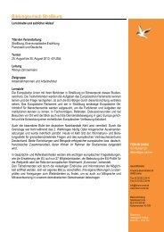 Geplanter Programmablauf Bildungsurlaub Straßburg 2013... - Forum Unna