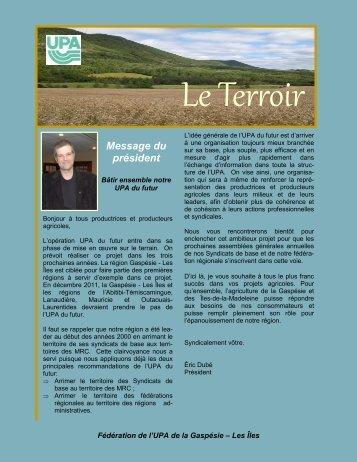 Le Terroir - UPA Gaspésie-Les-îles