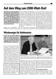 Auf dem Weg zum 2000-Watt-Dorf - Gasser Baumaterialien AG