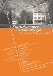 Flyer Kultursommer - Freie Musikschule Basel