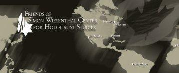 06-swc-012 fswc brochure_2 - Friends of Simon Wiesenthal Center ...