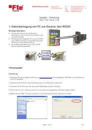 Update - Anleitung Datenübertragung vom PC zum ... - FTE Maximal