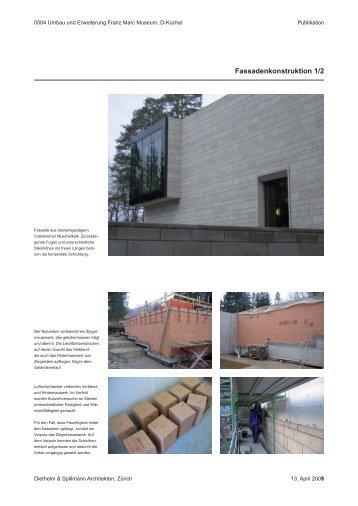 Fassadenkonstruktion 1/2 - Franz Marc Museum