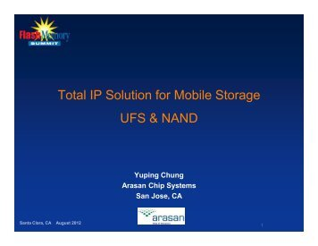 Total IP Solution for Mobile Storage UFS & NAND - Flash Memory ...