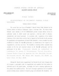 united states court of appeals - the Northern District of Florida