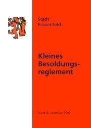 Kleines Besoldungsreglement - Stadt Frauenfeld