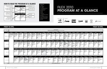 FILEX 2010 PROGRAM AT A GLANCE - Australian Fitness Network