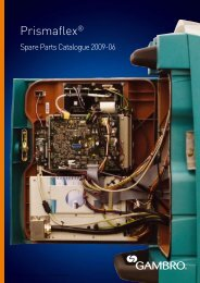 Spare parts catalogue 2009-0 - Gambro