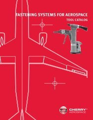 FASTENING SYSTEMS FOR AEROSPACE - Cherry Aerospace