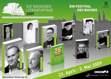23. April - 3. Mai 2009 - Weidener Literaturtage