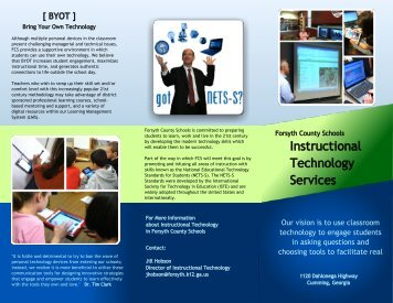 Instructional Technology Brochure - Forsyth County Schools