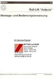 BOSCH ROLL-LIFT Aufputz - Betting und Buss Gbr