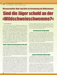 Tierschutz: Natur ohne Jagd - Magazin Freiheit für Tiere