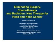 Molecular Biology of Head and Neck Cancer - Greater Baltimore ...