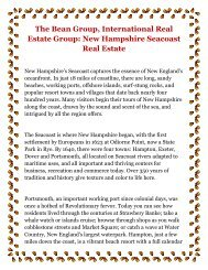 The Bean Group International Real Estate Group New Hampshire Seacoast Real Estate.pdf