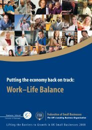 Work–Life - Federation of Small Businesses