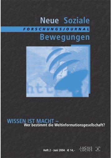 Vollversion (1.05 MB) - Forschungsjournal Neue Soziale Bewegungen