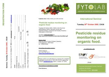 Pesticide residue monitoring on organic food. - Fytolab