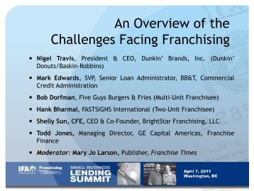 an overview of business franchising Doing business in various international markets wfc/apfc country reports international franchising laws franchise asia philippines welcome to philippine franchise association the premier franchise organization that is committed to the growth of the philippine franchising sector.