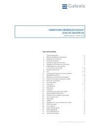 CONDITIONS GÉNÉRALES D'ACHAT (CGA) DE ... - Galexis.com