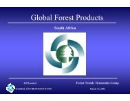 Global Forest Products - Forest Trends