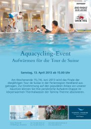 Flyer Aquacycling-Event Tamina Therme (PDF) - Flumserberg