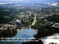 fysik för poeter - Fysikum - Stockholms universitet