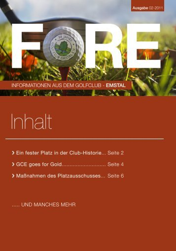 Ausgabe 2 / 2011 - Golfclub Emstal eV