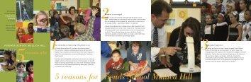 5 reasons for Friends School Mullica Hill