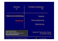RS mit Ausgleich höherer Ordnung - Institut für Technische Chemie ...