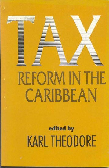 Tax Reform - Caribbean Centre for Money and Finance