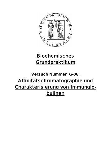 Affinitätschromatographie und Charakterisierung ... - funnycreature.de