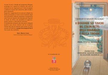 Scarica il Programma del Seminario - Fondazione Salvatore Maugeri